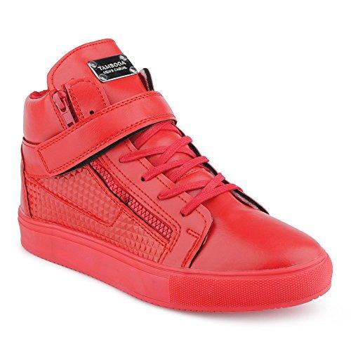 Sneakers rosse con cerniera per unisex z5h1Nrzm36