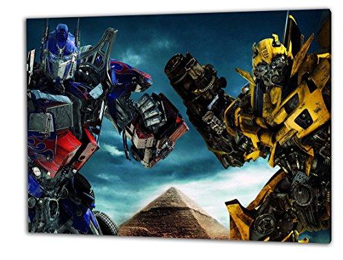 Transformers, Format: 100x70 Leinwandbild auf Holzrahmen gespannt, Leinwandbild, 1A Qualität zu 100% Made in Germany! Kein Poster Kein Plakat! Echtholzrahmen mit beigelieferten Zackenaufhängern. Fertig bespannt, Sofort dekorieren. Vier verschiedene Formate. (Fox Rennen Girls)