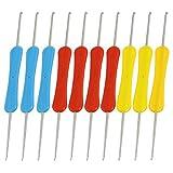 Dual Head Hooked Häkelnadeln 10 Stück Rot Blau Gelb