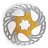 Wovemster 7075 Edelstahlscheibe Brems schwimmrotor - 160mm - Mountain Road 7 Zoll Fahrradteile(Gold)