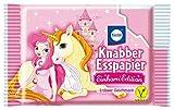 Knapper Esspapier EINHORN EDITION (Erdbeer Geschmack / Vegan - 25 g - 12 Stück) MOTIV FREI WÄHLBAR (EINHORN MIT FEE)