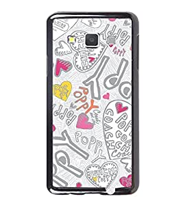 Fuson Premium 2D Back Case Cover Happy With Multi Background Degined For Samsung Galaxy A3::Samsung Galaxy A3 A300F