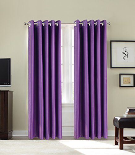 Purple Eyelet Curtains Amazon Co Uk