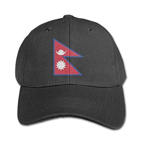 ruishandianqi Hüte,Kappen Mützen Flag Map of Nepal Pure Color Baseball Cap Cotton...