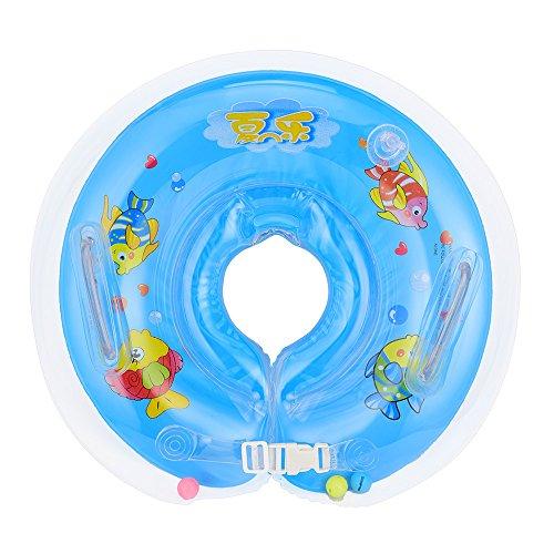 omos-enfants-bebe-infantile-ronde-gonflable-nager-anneau-de-differentes-bleu
