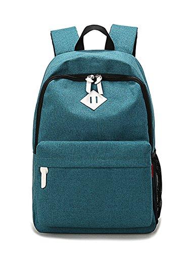 Leinwand Niedlich Damen accessories hohe Qualität Einfache Tasche Schultertasche Freizeitrucksack Tasche Rucksäcke Wasser-Blau Keshi gAd94y