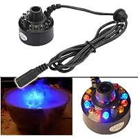 12-LED ultrasónico Mist Maker Fogger agua fuente estanque