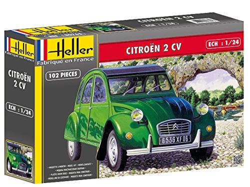 Heller 80765 - modellino da costruire, auto citroen 2 cv, scala 1:24 [importato da francia]