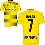 Puma BVB Borussia Dortmund Home Trikot 2017 2018 Heimtrikot mit Spieler Name Farbe Dembele, Größe 164