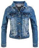 Rock Creek Damen Jeans Jacke Übergangs Jacke Denim Blouson Stretch Kurz Classic Jeansjacken Urban Stonewash D-401 Blau L