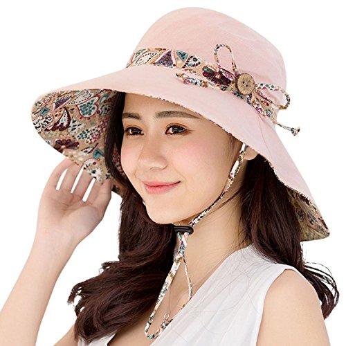 HAPEE Lovely Sun Hat for Women Floppy,uv Protection Beach Hats UPF 50+