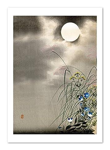 Fleurs et pleine lune–A3art print
