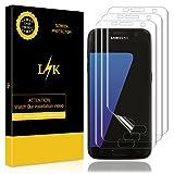 LK Samsung Galaxy S7 Schutzfolie [3 Pack], Liquid Skin [Vollständige Abdeckung] [Blasenfreie] HD klar Flexible Folie for Samsung Galaxy S7 Schutzfolie.