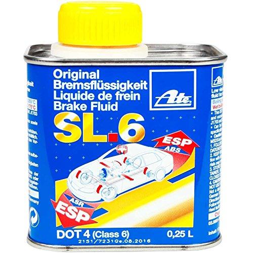 Preisvergleich Produktbild ATE Bremsflüssigkeit SL6 DOT4, 250 ml, Set 2 Stück