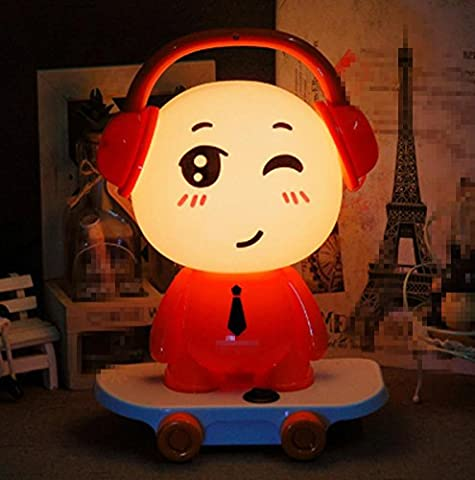 Boys Cartoon Dj Villain Room Warm Bedside Lamp Eye Protection