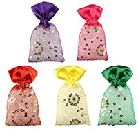 Miracle Perfume Potli. Set of 5 Pieces. Assorted Fragrances. Car Air Freshener. 12 Months Perfume