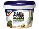 Polycell 5207192Polyfilla - Masilla de relleno de 2 partes para madera, 500g, natural (Paquete de 2)