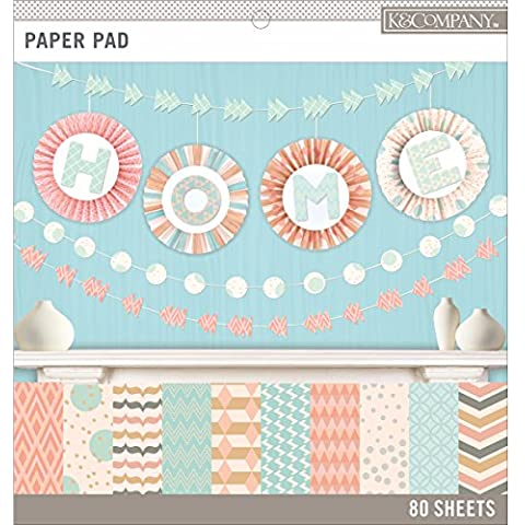 K & Company Basics 12 x 12 pollici Carta Pad 80 / PKG-Pastels, 20 disegni / 4 Ogni