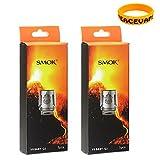 Autentica SMOK V8 Baby Q2 0,4 OHM Resistenza testa per TFV8 BABY Atomizzatore Confezione da 10 (2 pacchi) Sigarette Elettroniche Senza Nicotina con PEACEVAPE™ Vape Band