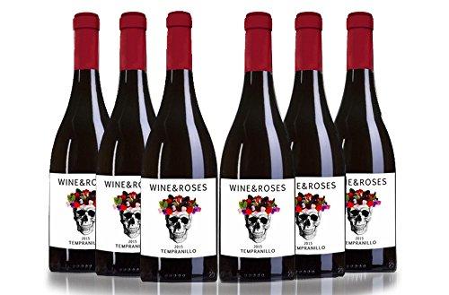 San Jamón Wine & Roses Tempranillo Vino De Autor - Paquete De 6 X 750 Ml - Total: 4500 Ml