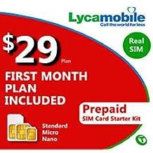 Tarjeta SIM de prepago para EE UU, 30días de funcionamiento, 3 tamaños de tarjeta, lista para activar