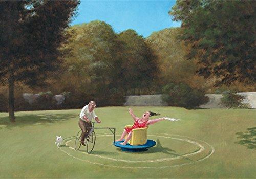 Postkarte A6 • 16099 ''Karussell'' von Inkognito • Künstler: Gerhard Glück • Satire