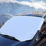 Ansenesna Abdeckung Windschutzscheibe Auto Winter Groß Aluminium Frontscheibenabdeckung Sunshade Anti Schnee (Silber)