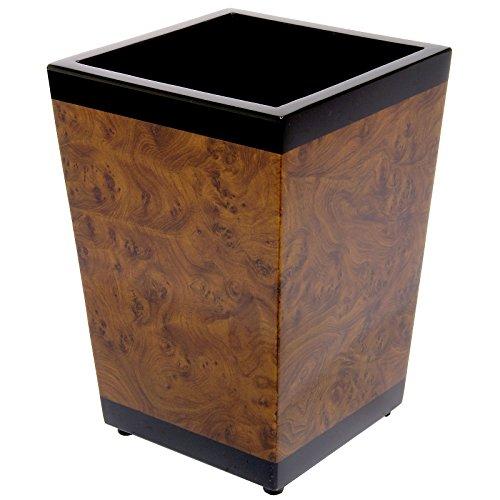 k. A. Papierkorb/Abfalleimer/Mülleimer 12l in Wurzelholzoptik - Das Geschenk für Ihren Chef -