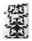 Finlayson Ajatus Bettbezug-Set mit Kissen Fall, Baumwolle, Schwarz/Weiß, 150x 210cm