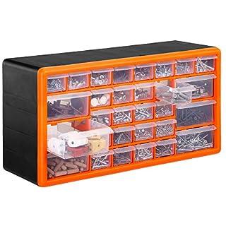 VonHaus 30 Drawer Parts Storage Organiser Cabinet