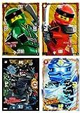 Ninjago XXL Karten 4 Stück + Bonus (Set 2)