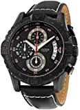 Guess Herren-Armbanduhr XL Analog Quarz Leder W18547G1