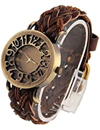 RTimes Hollow Dark Brown Analog Gold Dial Women's Watch