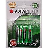 AgfaPhotoLot de 4 piles rechargeables AAA 600mAh