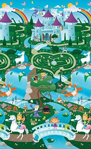 PRINCE LIONHEART Tapis de Jeux Playmat Ville/Chevaliers et Princesses Multicolore