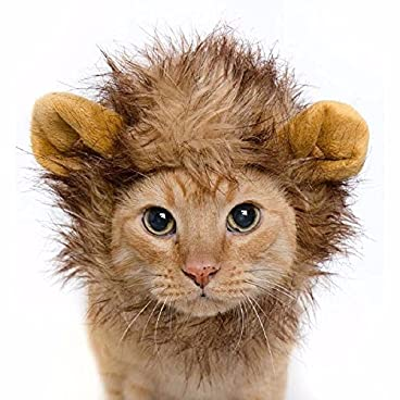 Lion Mane Fancy Dress Costume for Cats. Fun Pet Apparel for Parties and Halloween
