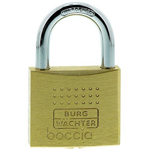 Burg-Wächter Vorhängeschloss, 6,5 mm Bügelstärke, Kneifschutz, 6 Schlüssel, Boccia 450 40 6 SB, 1 Stück