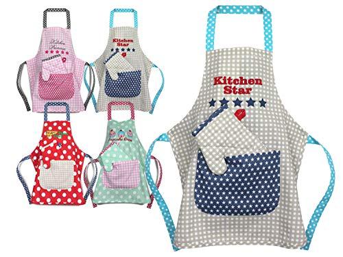Emily´s Check Kochmütze - Küchenschürze & Topfhandschuh für Kinder 468.550, Küchenschürze & Topfhandschuh 3-6 Jahre, Kitchen Star -