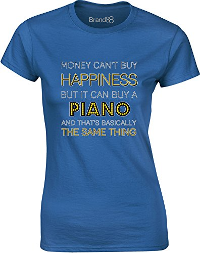 Brand88 - Money Can Buy A Piano, Gedruckt Frauen T-Shirt Königsblau