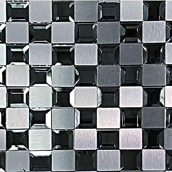 Self Adhesive Mini Flexible Real Mirror Tile Sheet 15 X 10cm 600 X