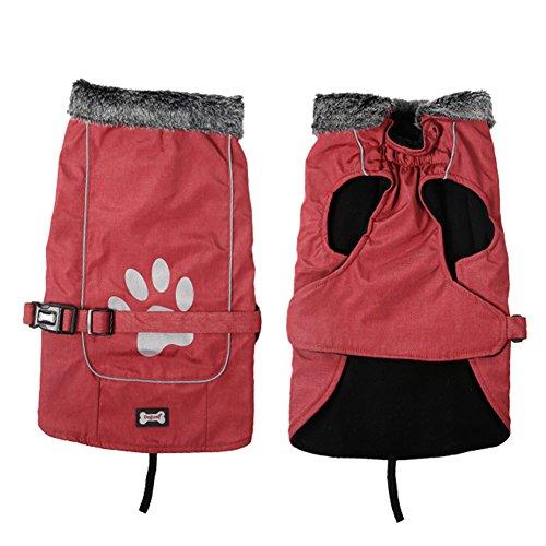 Impermeable para perros con arnés y tiras reflectoras seguras Ultra-Light transpirable impermeable...