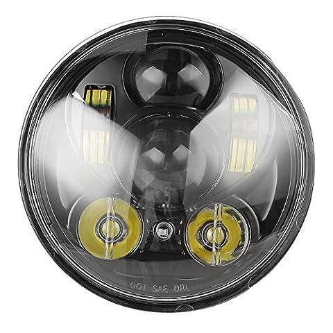 """LeaningTech 5-3/4"""" 5.75"""" 45W Runde LED Projektion Daymaker Scheinwerfer für Harley Davidson Kickfaire , IP67 4000LM, mehr als 50000 St. Lebensdauer"""