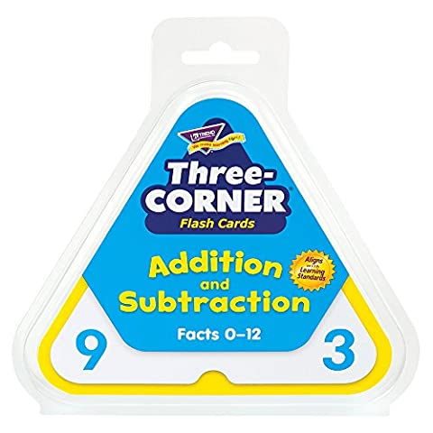 Addition/Subtraction Three-Corner Flash Cards, 6 & Up, 48/Pack