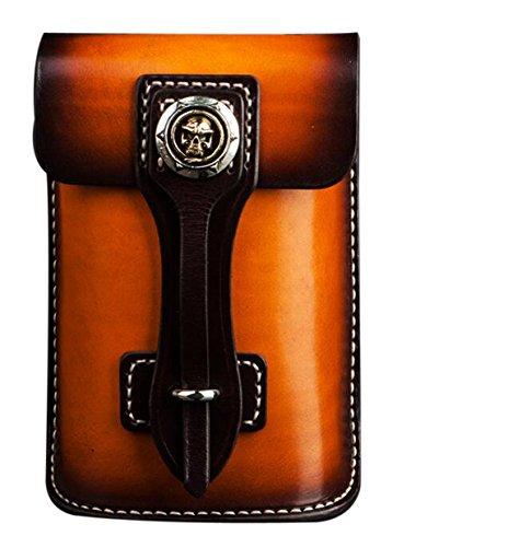 Chine Palaeowind Manuel Poche Locomotive Bag Téléphone Mobile Cuir Poche Cartable Sac à Bandoulière Retro 18,5 * 12 * 5cm,Brown Coffee