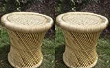 #8: PatioStack Cane Outdoor Garden Stool Set of 2 for Adults, Old Age and Kids