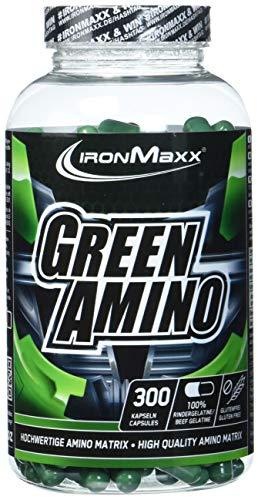 IronMaxx Green Amino – Aminosäuren – Proteinpulver in Kapselform – 1 x 300 Kapseln (205g)