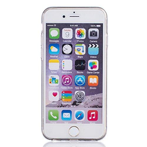 iPhone 6/6S 4.7 Custodia,Ukayfe Elegante Bling Design Particolari Colore Custodia in Gel TPU Silicone, Ultra Sottile Bumper Shell Cover e Cristallo Diamante Glitter Lucido morbido protettiva TPU Case  Fiore 3#