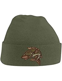 55450982 Beanie Hats for Men Carp Fishing Beanies Embroidered Animal Knitted Wooly  Hat One Size Fits All