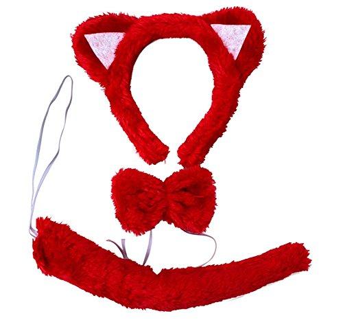 w / Darstellende Props / Ohr, Schwanz, Krawatte (Katze Halloween-kostüm Für Meine Mädchen)