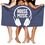 YSEFHX Unisex House Music Beach Towels Washcloths Bath Towels For Teen Girls Adults Travel Towel Pool and Gym Use 31x51 Inches